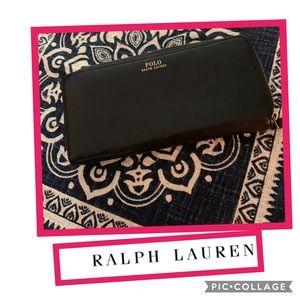 Polo Ralph Lauren Leather Zip Around Wallet